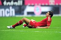 FUSSBALL   1. BUNDESLIGA  SAISON 2011/2012   15. Spieltag FC Bayern Muenchen - SV Werder Bremen        03.12.2011 Mario Gomez (FC Bayern Muenchen)