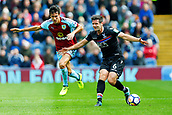 10th September 2017, Turf Moor, Burnley, England; EPL Premier League football, Burnley versus Crystal Palace; Scott Dann of Crystal Palace shields the ball