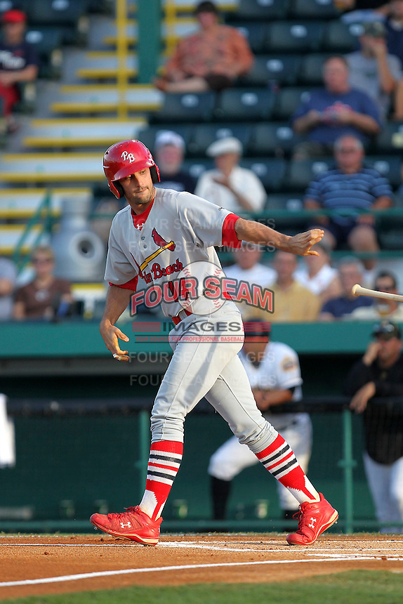 April 29, 2010 Infielder Matt Carpenter of the Palm Beach Cardinals, Florida State League Class-A affiliate of the St.Louis Cardinals, during a game at McKenhnie Field in Bradenton Fl. Photo by: Mark LoMoglio/Four Seam Images