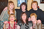 CLUBHOUSE: Enjoying the evening in the Austin Stacks Clubhouse, Connolly Park, Tralee, on Saturday were, front l-r: Bridie Courtney, Cathy OConnor and Kathleen Walsh, Connolly Park. Back l-r: Patricia Moriarty, Dora Walsh and Ann Quinn, Rathoonane..