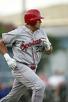 July 9 2009: Vincent DiFazio of the Spokane Indians during game against the Eugene Emeralds at Civic Stadium in Eugene,OR.  Photo by Larry Goren/Four Seam Images