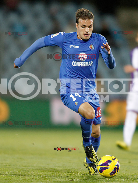Getafe's Pedro Leon during La Liga match.November 18,2012. (ALTERPHOTOS/Acero)