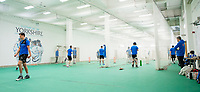 Picture by Allan McKenzie/SWpix.com - 05/04/2018 - Cricket - Yorkshire County Cricket Club Training - Headingley Cricket Ground, Leeds, England - A general view of Yorkshire netting indoors.