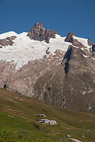 View of the Vallee des Glaciers with the Mont Blanc Massif behind September 6 2007
