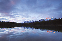 Herbert Lake, sunrise, Banff National Park