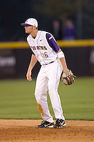 Second baseman Ryan Wood #16 of the East Carolina Pirates on defense versus the Elon Phoenix at Clark-LeClair Stadium March 29, 2009 in Greenville, North Carolina. (Photo by Brian Westerholt / Four Seam Images)