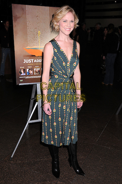"TRACEY MIDDENDORF.""Just Add Water"" Los Angeles Premiere at the Director's Guild Theatre, West Hollywood, California, USA..March 18th, 2008.full length black green yellow pattern print dress sleeveless .CAP/ADM/BP.©Byron Purvis/AdMedia/Capital Pictures."