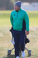 Caolan Rafferty from Ireland on the 11th fairway after Round 1 Foursomes of the Men's Home Internationals 2018 at Conwy Golf Club, Conwy, Wales on Wednesday 12th September 2018.<br /> Picture: Thos Caffrey / Golffile<br /> <br /> All photo usage must carry mandatory copyright credit (© Golffile | Thos Caffrey)
