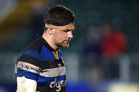 Charlie Ewels of Bath Rugby leaves the field dejected. Aviva Premiership match, between Bath Rugby and Exeter Chiefs on March 23, 2018 at the Recreation Ground in Bath, England. Photo by: Patrick Khachfe / Onside Images