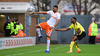 Blackpool's Michael Nottingham vies for possession with Burton Albion's Lucas Akins<br /> <br /> Photographer Chris Vaughan/CameraSport<br /> <br /> The EFL Sky Bet League One - Burton Albion v Blackpool - Saturday 16th March 2019 - Pirelli Stadium - Burton upon Trent<br /> <br /> World Copyright &copy; 2019 CameraSport. All rights reserved. 43 Linden Ave. Countesthorpe. Leicester. England. LE8 5PG - Tel: +44 (0) 116 277 4147 - admin@camerasport.com - www.camerasport.com