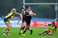 Shantelle Peters of New Zealand in action. FISU World University Championship Rugby Sevens Women's 9th/10th place match between New Zealand and Australia on July 9, 2016 at the Swansea University International Sports Village in Swansea, Wales. Photo by: Patrick Khachfe / Onside Images