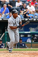 Mariners third baseman Adrian Beltre bats against the Royals at Kauffman Stadium in Kansas City, Missouri on May 27, 2007.  Seattle won 7-4.