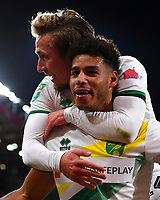 Onel Hernandez of Norwich City celebrates his goal with Felix Passlack of Norwich City during AFC Bournemouth vs Norwich City, Caraboa Cup Football at the Vitality Stadium on 30th October 2018
