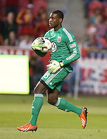 Goalie Bill Hamid #28 of D.C. United catches the ball during a game against Real Salt Lake during the first half of the U.S. Open Cup Final on October  1, 2013 at Rio Tinto Stadium in Sandy, Utah.