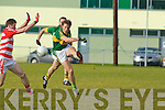 Donnchadh Walsh  Kerry in action against Jason Collins Cork IT in the semi final of the McGrath Cup at John Mitchells Grounds on Sunday.