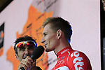 Andre Greipel (GER) Lotto-Soudal team on stage at the Team Presentation in Burgplatz Dusseldorf before the 104th edition of the Tour de France 2017, Dusseldorf, Germany. 29th June 2017.<br /> Picture: Eoin Clarke | Cyclefile<br /> <br /> <br /> All photos usage must carry mandatory copyright credit (&copy; Cyclefile | Eoin Clarke)