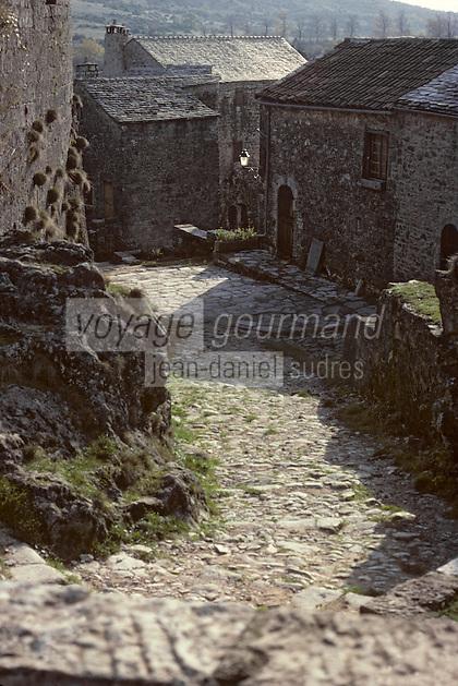 Europe/France/Auvergne/12/Aveyron/La Couvertoirade: Détail des ruelles
