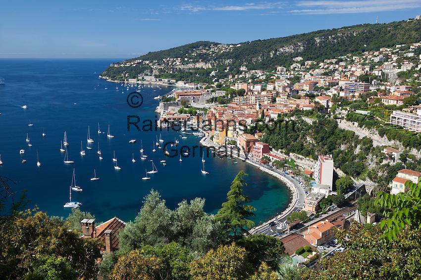 France, Provence-Alpes-Côte d'Azur, Villefranche-sur-Mer: bay and harbour   Frankreich, Provence-Alpes-Côte d'Azur, Villefranche-sur-Mer: Bucht und Hafen