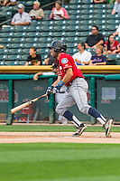 Chris Taylor (20) of the Tacoma Rainiers at bat against the Salt Lake Bees in Pacific Coast League action at Smith's Ballpark on September 1, 2015 in Salt Lake City, Utah. The Bees defeated the Rainiers 10-1.  (Stephen Smith/Four Seam Images)