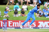 India's Ishan Porel into his delivery stride during the ICC U-19 Cricket World Cup 2018 Finals between India v Australia, Bay Oval, Tauranga, Saturday 03rd February 2018. Copyright Photo: Raghavan Venugopal / © www.Photosport.nz 2018 © SWpix.com (t/a Photography Hub Ltd)
