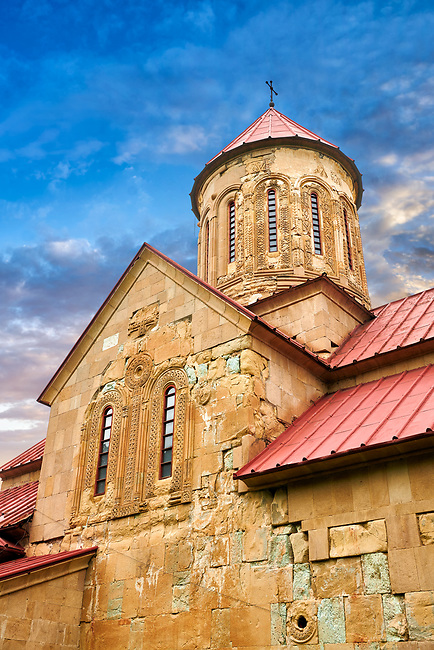 """Picture & image of the  Betania (Bethania ) Monastery of the Nativity of the Mother of God Georgian Orthodox complex, Georgia.<br /> <br /> Betania (Bethania ) Monastery of the Nativity of the Mother of God is a 11th century church with a cruciform ground plan and dome in the style of Georgian Orthodox church  architecture of the """"Golden Age"""" of the Kingdom of Georgia."""