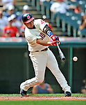 14 September 2008: Cleveland Indians' infielder Jhonny Peralta in action against the Kansas City Royals at Progressive Field in Cleveland, Ohio. The Royal defeated the Indians 13-3 to take the 4-game series three games to one...Mandatory Photo Credit: Ed Wolfstein Photo