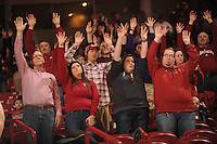 NWA Democrat-Gazette/ANDY SHUPE<br /> of Arkansas of North Dakota State Tuesday, Dec. 20, 2016, during the first half of play in Bud Walton Arena. Visit nwadg.com/photos to see more photographs from the game.