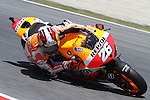 15.06.2013 Barcelona, Spain. Aperol  Catalonia Grand Prix. Picture show Dani Pedrosa ridding Honda during MotoGP qualifyng at Circuit de Catalunya