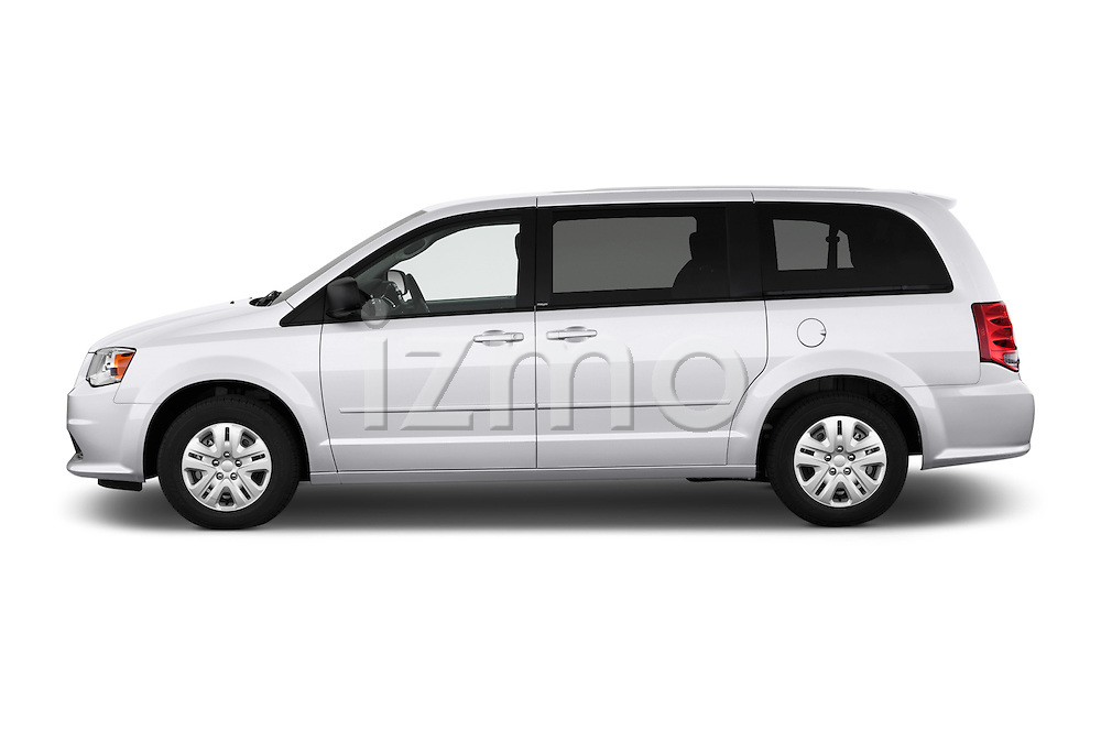 Car Driver side profile view of a 2018 Dodge Grand-Caravan SE 5 Door Minivan Side View