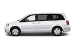 Car Driver side profile view of a 2017 Dodge Grand-Caravan SE 5 Door Minivan Side View