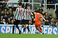 Danny Hylton of Luton Town has a second goal ruled out for offside during Newcastle United vs Luton Town, Emirates FA Cup Football at St. James' Park on 6th January 2018