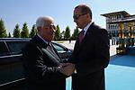 Turkish President Tayyip Erdogan meets with Palestinian President Mahmoud Abbas in Ankara, Turkey, August 28, 2017. Photo by Osama Falah