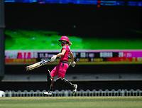 24th November 2019; Lilac Hill Park, Perth, Western Australia, Australia; Womens Big Bash League Cricket, Perth Scorchers versus Sydney Sixers; Erin Burns of the Sydney Sixers runs between wickets - Editorial Use