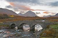 Sligachan river and bridge, Isle of Skye, Scotland