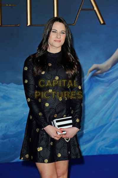 LONDON, ENGLAND - MARCH 19:  Kat Shoob attending the 'Cinderella' UK Premiere at Odeon Cinema, Leicester Square on March 19, 2015 in London, England<br /> CAP/MAR<br /> &copy; Martin Harris/Capital Pictures