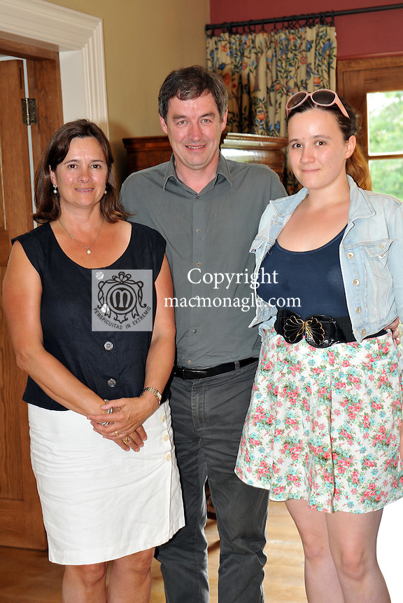 Pictured at the Ard na Sidhe Manor House afternoon tea and culture with Artist Pauline Bewick overlooking Caragh Lake were, Janet, Kieran and Grainne Sheahan from Killarney..Picture by Don MacMonagle..PR photo: Ard na SIdhe:.Further info: Joanne Byrne / Presence PR 353 1 676 1062