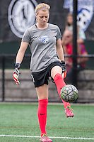 Allston, MA - Sunday July 31, 2016: Libby Stout prior to a regular season National Women's Soccer League (NWSL) match between the Boston Breakers and the Orlando Pride at Jordan Field.