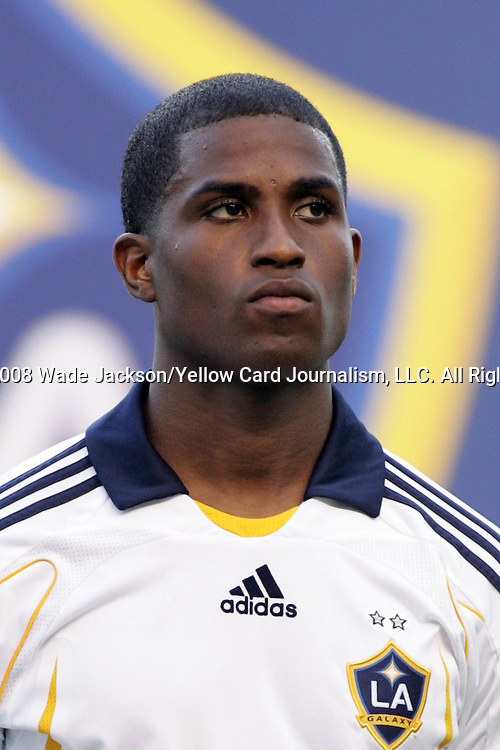 20 February 2008:  Edson Buddle of the Galaxy.  The LA Galaxy of the USA was defeated by Gamba Osaka of Japan 0-1 during the opening match of the 2008 Pan Pacific Championship held at Aloha Stadium in Honolulu, Hawaii.