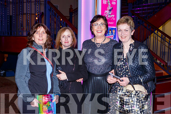 Mary O'Shea, Aoibhe Coffey, Jean Foley and Emily Coleman at the Joseph and his Amazing Technicolor Dreamcoat in the INEC on Thursday night
