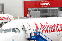RIONEGRO, COLOMBIA - MAY 12: Two airplane of the Avianca airline settles on the runway of the José María Córdoba International Airport on May 12, 2020 in Rionegro. Avianca filed for bankruptcy in the United States on May 11, 2020 to reorganize its debt due to the impact of the coronavirus pandemic. (Photo by Fredy Builes / VIEWpress via Getty Images)