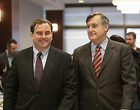 Andrew Molson (L) and Lucien Bouchard in December 2012,<br /> <br /> File Photo : Agence Quebec Presse
