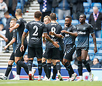 21.07.2019: Rangers v Blackburn Rovers: Jermain Defoe celebrates his goal
