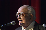 Bellmore, New York, USA. July 21, 2016. Actor ED ASNER, who portrayed Lou Grant in Mary Tyler Moore Show, receives the Lifetime Achievement Award, at the 19th Annual Long Island International Film Expo Awards Ceremony, LIIFE 2016, held at the historic Bellmore Movies. LIIFE was called one of the 25 Coolest Film Festivals in the World by MovieMaker Magazine.