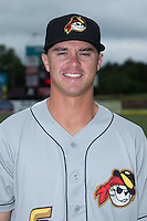 West Virginia Power second baseman Kevin Kramer (6) poses for a photo prior to the game against the Kannapolis Intimidators at Intimidators Stadium on September 7, 2015 in Kannapolis, North Carolina.  The Power defeated the Intimidators 9-3.  (Brian Westerholt/Four Seam Images)