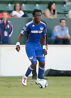 CARSON, CA – SEPTEMBER 19: KC Wizard midfielder Kei Kamara (23) during a soccer match at Home Depot Center, September 19, 2010 in Carson California. Final score Chivas USA 0, Kansas City Wizards 2.