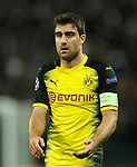 Dortmund's Sokratis Papastathopoulos in action during the champions league match at Wembley Stadium, London. Picture date 13th September 2017. Picture credit should read: David Klein/Sportimage