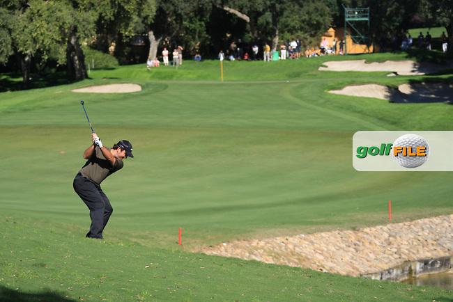 Francesco Monilari (ITA) during the 2nd day at the  Andalucía Masters at Club de Golf Valderrama, Sotogrande, Spain. .Picture Fran Caffrey www.golffile.ie