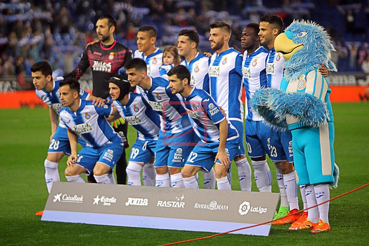 League Santander 2016/2017. Game: 27.<br /> RCD Espanyol vs UD Las Palmas: 4-3.