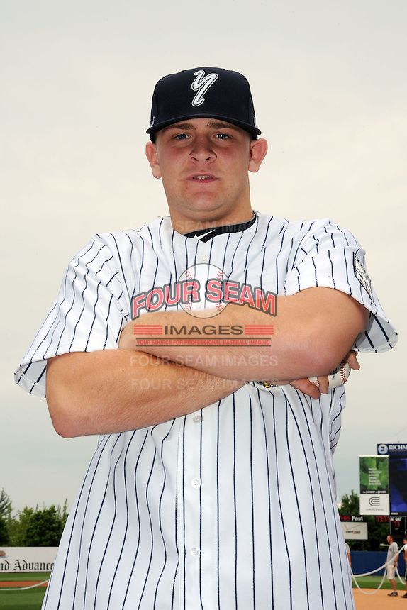 Staten Island Yankees pitcher Michael Recchia (50) during first team workout at Richmond County Bank Ballpark at St. George in Staten Island, NY June 15, 2010.  Photo By Tomasso DeRosa/ Four Seam Images