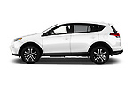 Car driver side profile view of a 2018 Toyota RAV4 LE 5 Door SUV